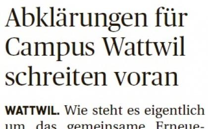 Abklärungen für Campus Wattwil schreiten voran (Samstag, 03.09.2016)