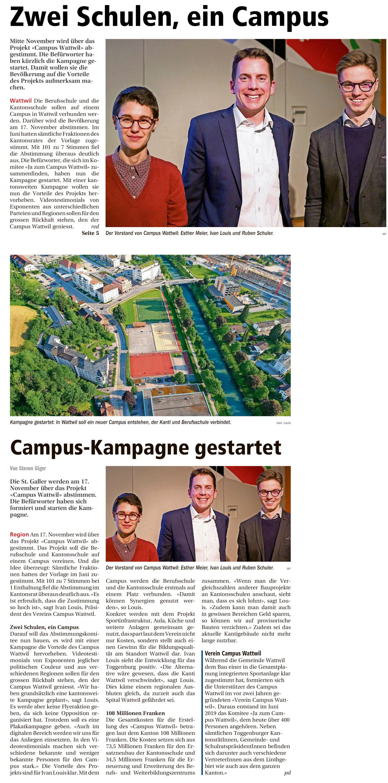 Zwei Schulen, ein Campus (Mittwoch, 30.10.2019)