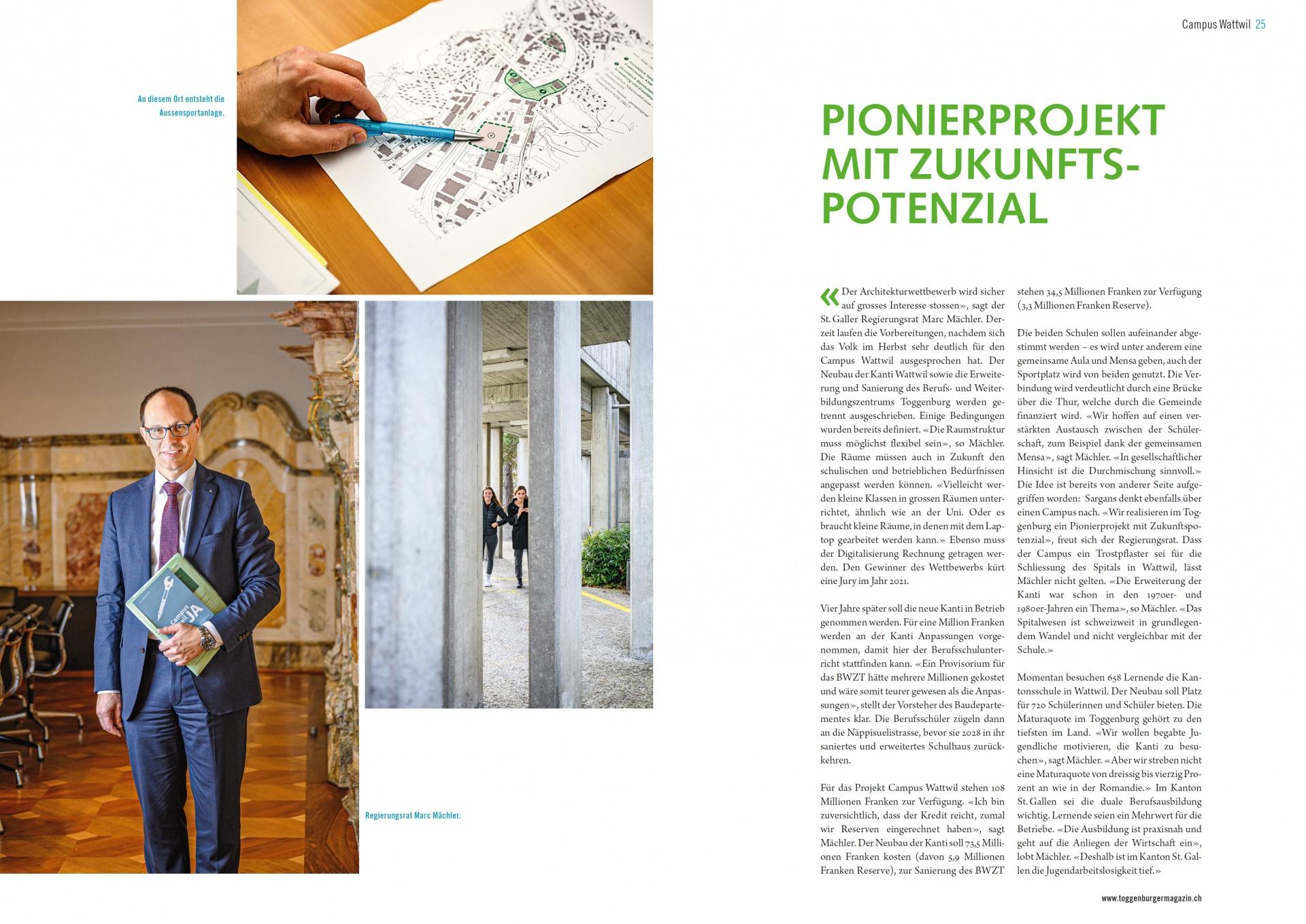 Interview Marc Mächler: Pionierprojekt mit Zukunftspotenzial (Dienstag, 14.01.2020)