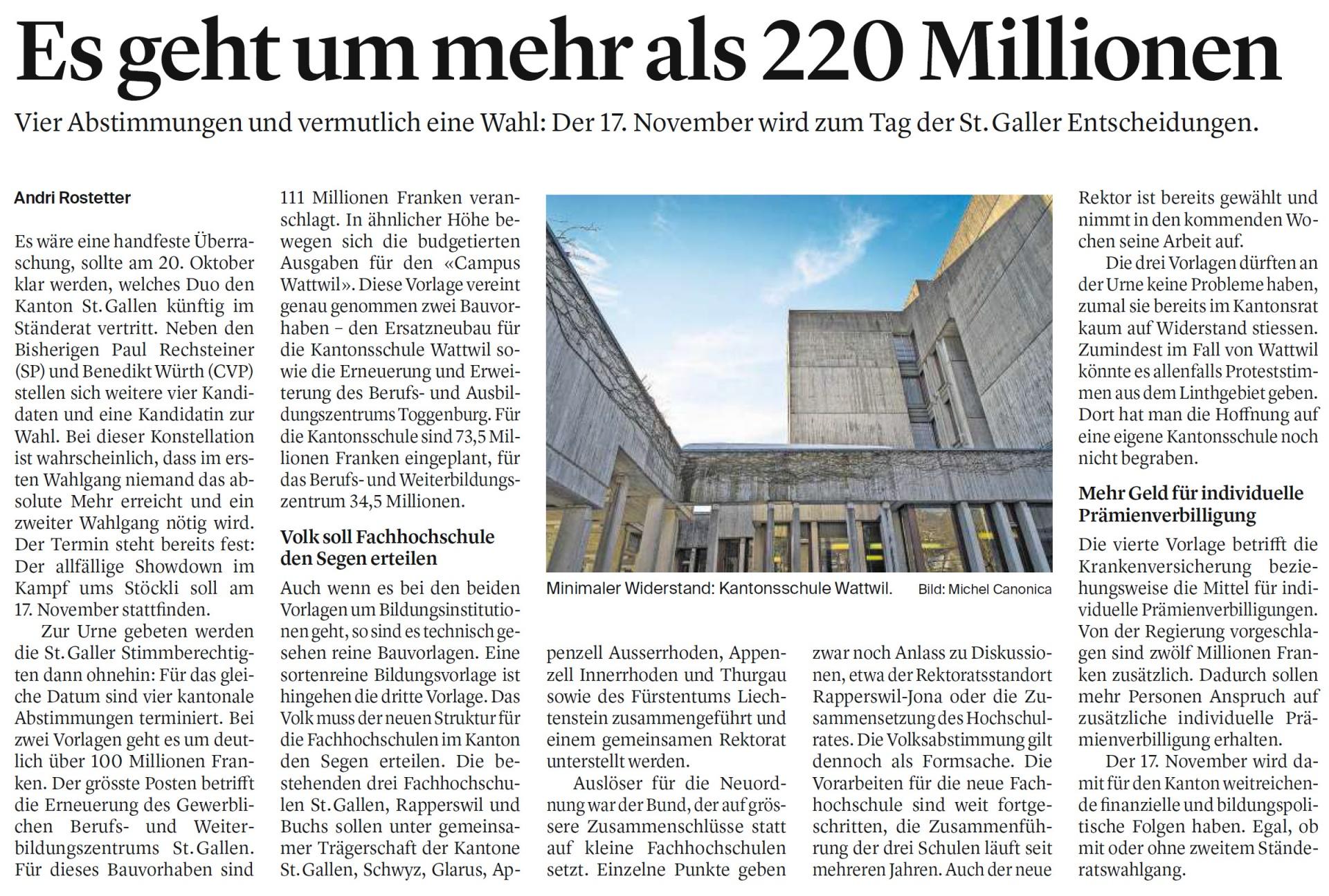 Es geht um mehr als 220 Millionen (Montag, 02.09.2019)