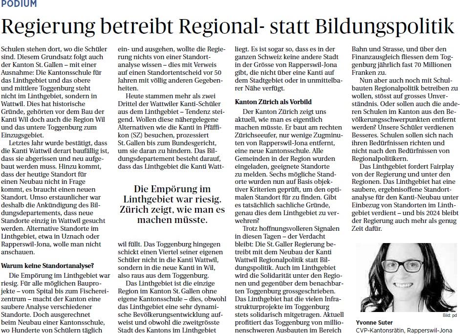 Regierung betreibt Regional- statt Bildungspolitik (Montag, 17.02.2014)