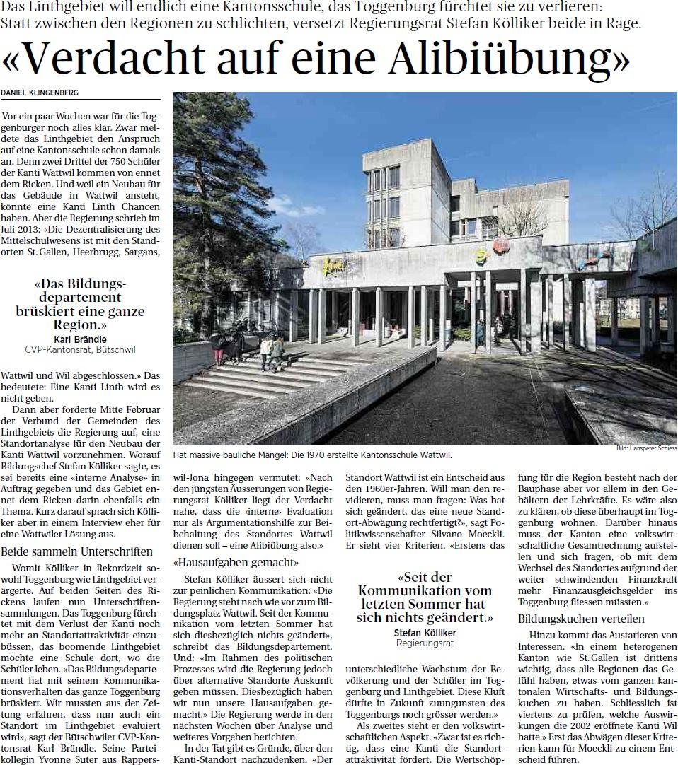 «Verdacht auf eine Alibiübung» (Sonntag, 02.03.2014)