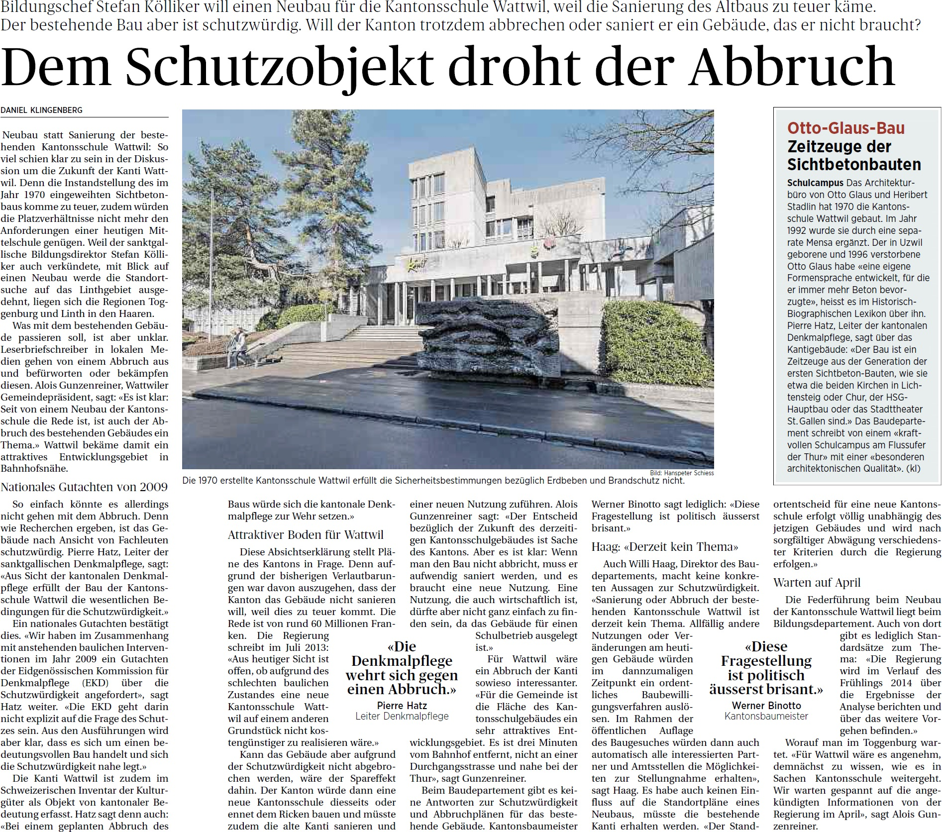 Dem Schutzobjekt droht der Abbruch (Sonntag, 30.03.2014)
