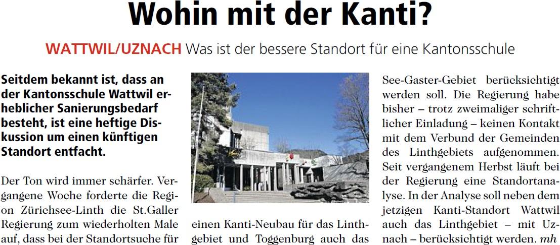 Wohin mit der Kanti? (Mittwoch, 30.04.2014)