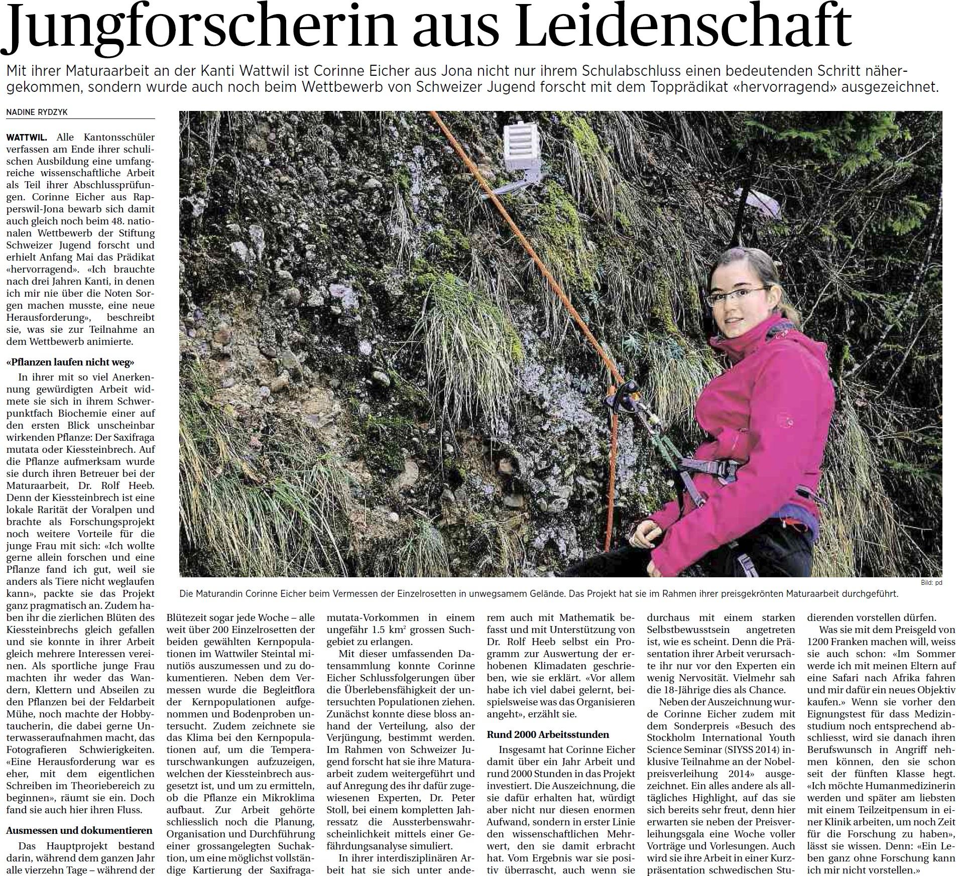 Jungforscherin aus Leidenschaft (Donnerstag, 22.05.2014)