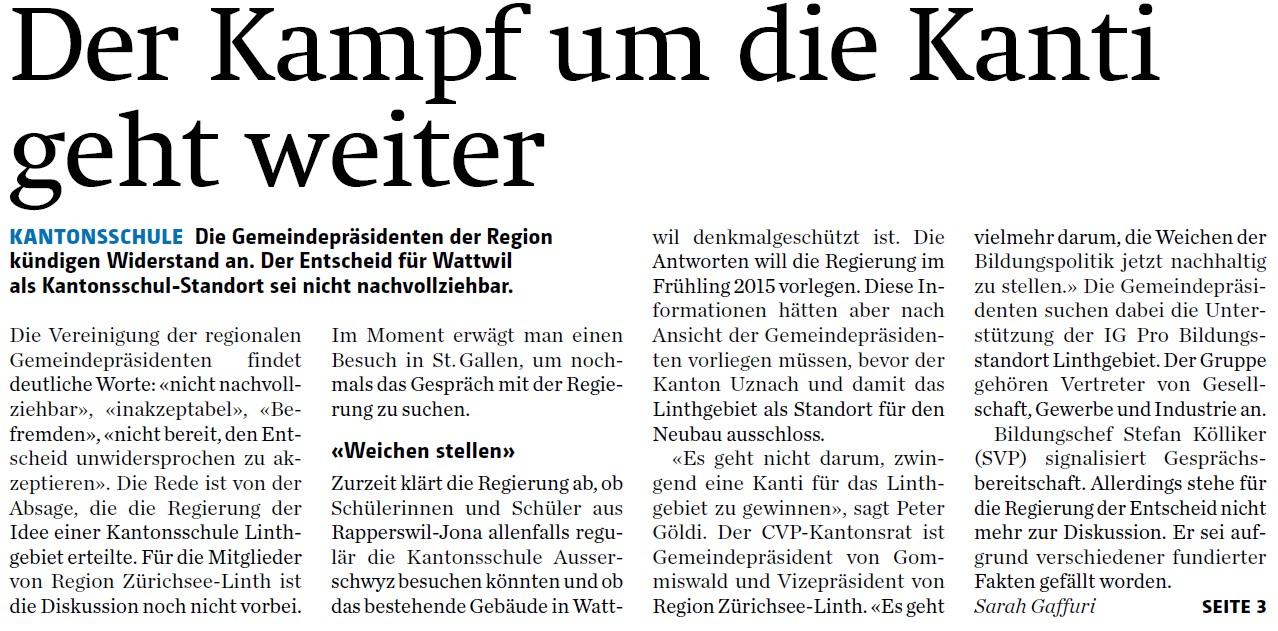 Der Kampf um die Kanti geht weiter (Samstag, 14.06.2014)