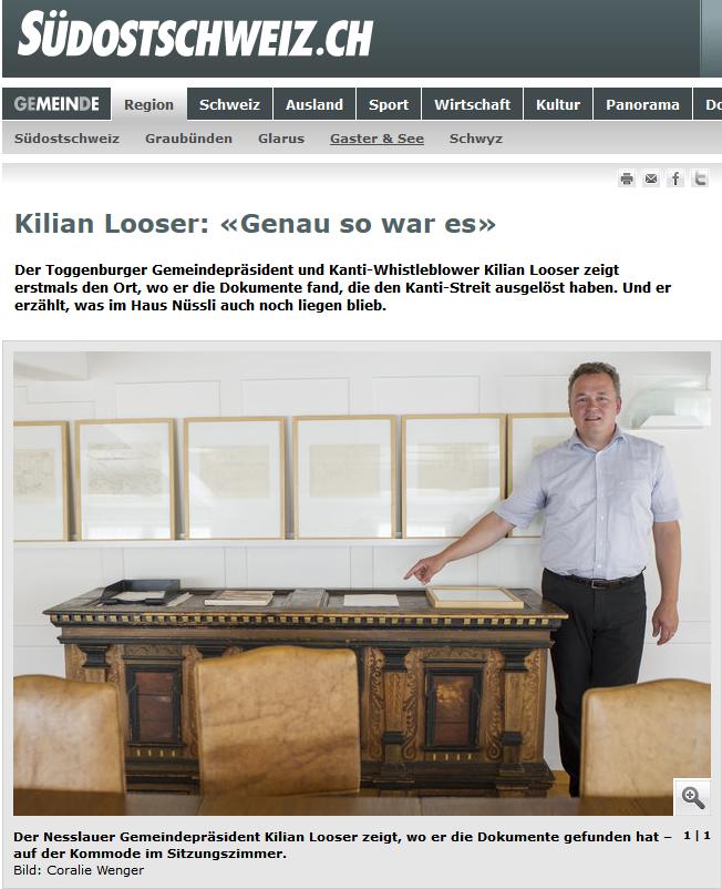 Kilian Looser: «Genau so war es» (Donnerstag, 04.09.2014)