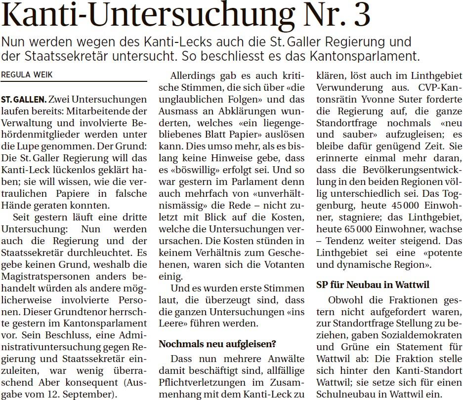 Kanti-Untersuchung Nr. 3 (Dienstag, 16.09.2014)