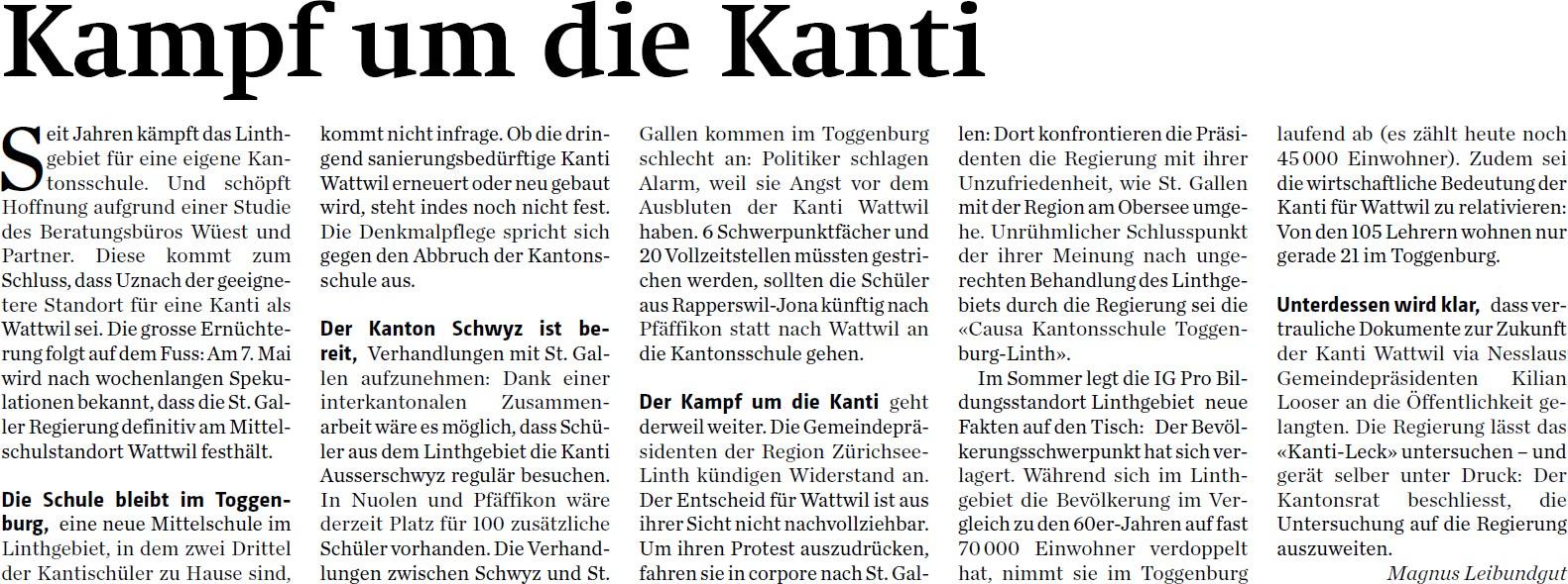 Kampf um die Kanti (Mittwoch, 31.12.2014)