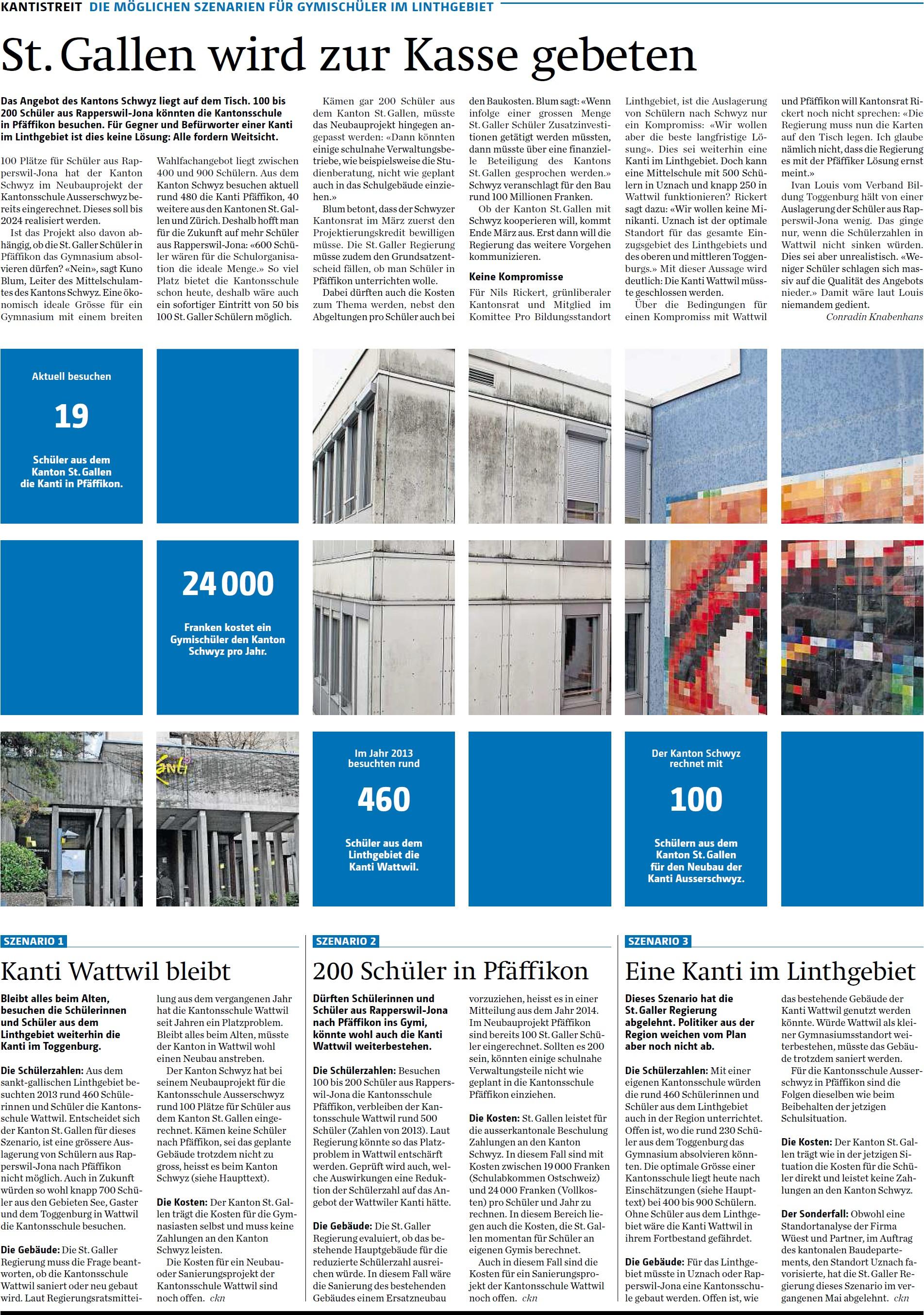 St. Gallen wird zur Kasse gebeten (Donnerstag, 12.02.2015)